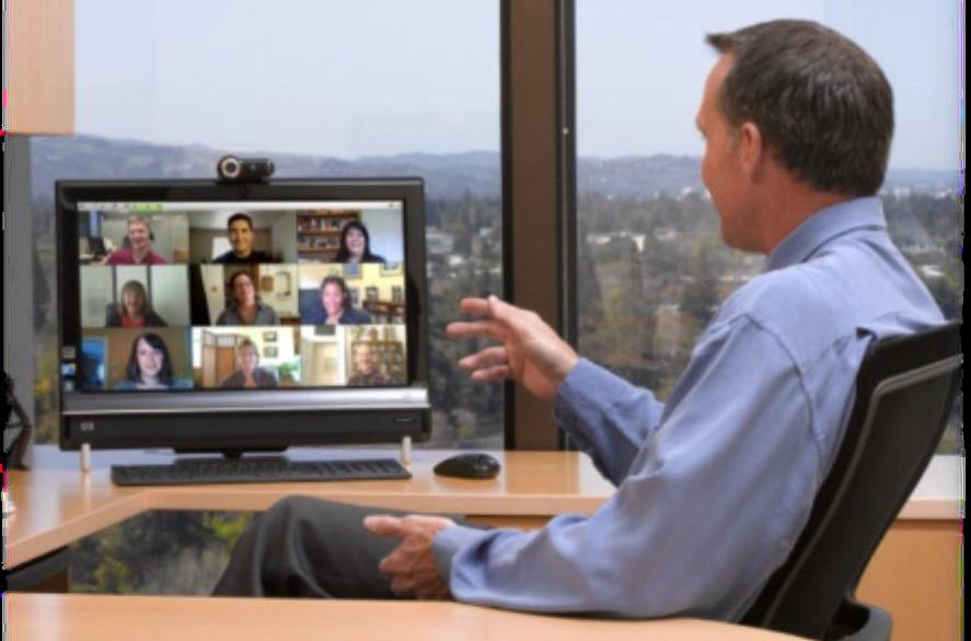 An Example of Viewing Several People with Telepresence
